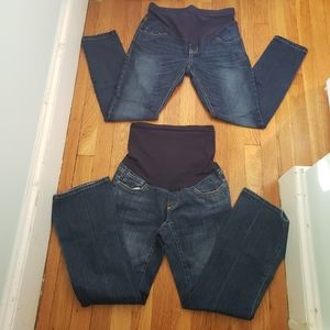 Denim - 1 old navy and 1 a pea in the pod maternity jeans.